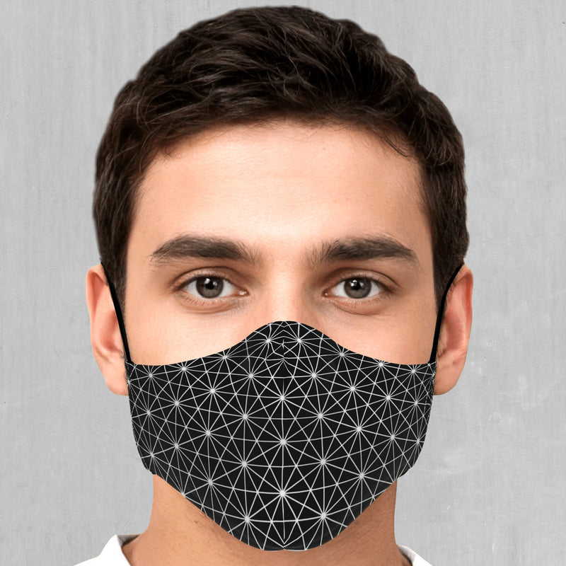 Star Net Face Mask - EDM Rave Festival Street Wear Abstract Apparel