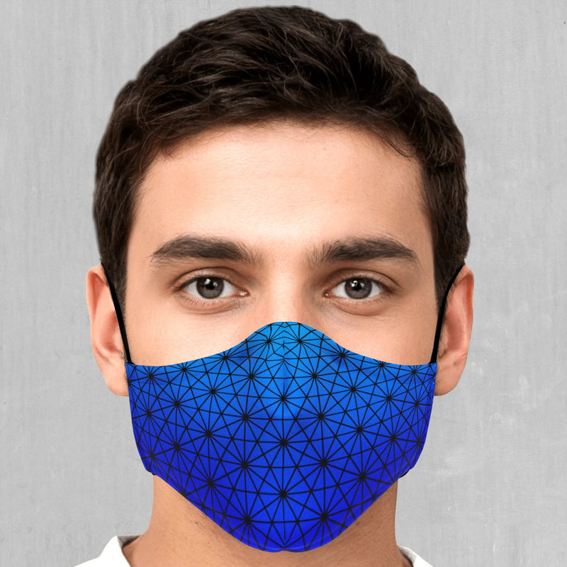 Star Net (Frost) Face Mask - EDM Rave Festival Street Wear Abstract Apparel