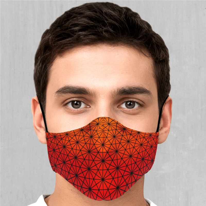 Star Net (Pyro) Face Mask - EDM Rave Festival Street Wear Abstract Apparel