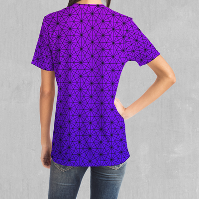 Star Net (Ultraviolet) Tee - EDM Rave Festival Street Wear Abstract Apparel