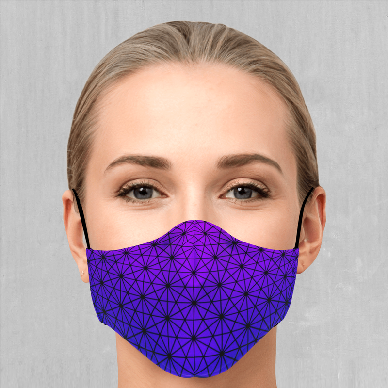 Star Net (Ultraviolet) Face Mask - EDM Rave Festival Street Wear Abstract Apparel