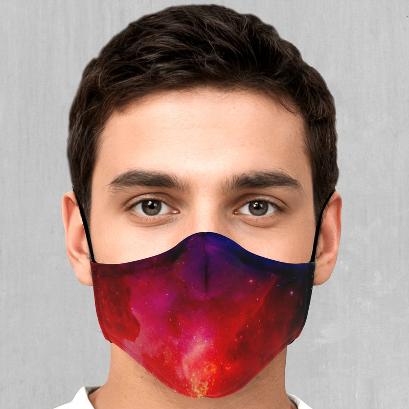 Supernova Face Mask - EDM Rave Festival Street Wear Abstract Apparel
