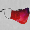 Supernova Face Mask - EDM Rave Street Wear Abstract Apparel