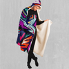 Tectonic Hooded Blanket - EDM Rave Festival Street Wear Abstract Apparel