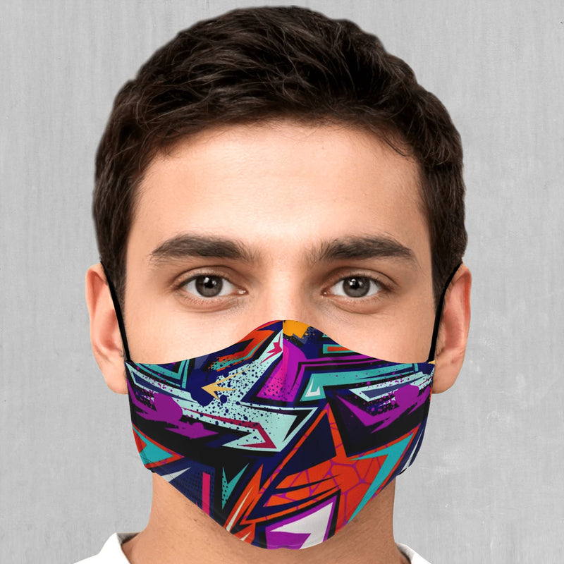 Tectonic Face Mask - EDM Rave Festival Street Wear Abstract Apparel