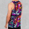 Tectonic Men's Tank Top - EDM Rave Festival Street Wear Abstract Apparel