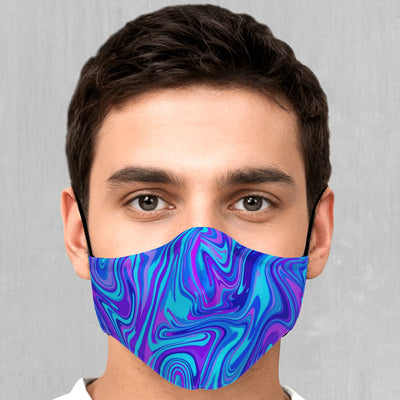 Vapor Drip Face Mask - EDM Rave Festival Street Wear Abstract Apparel