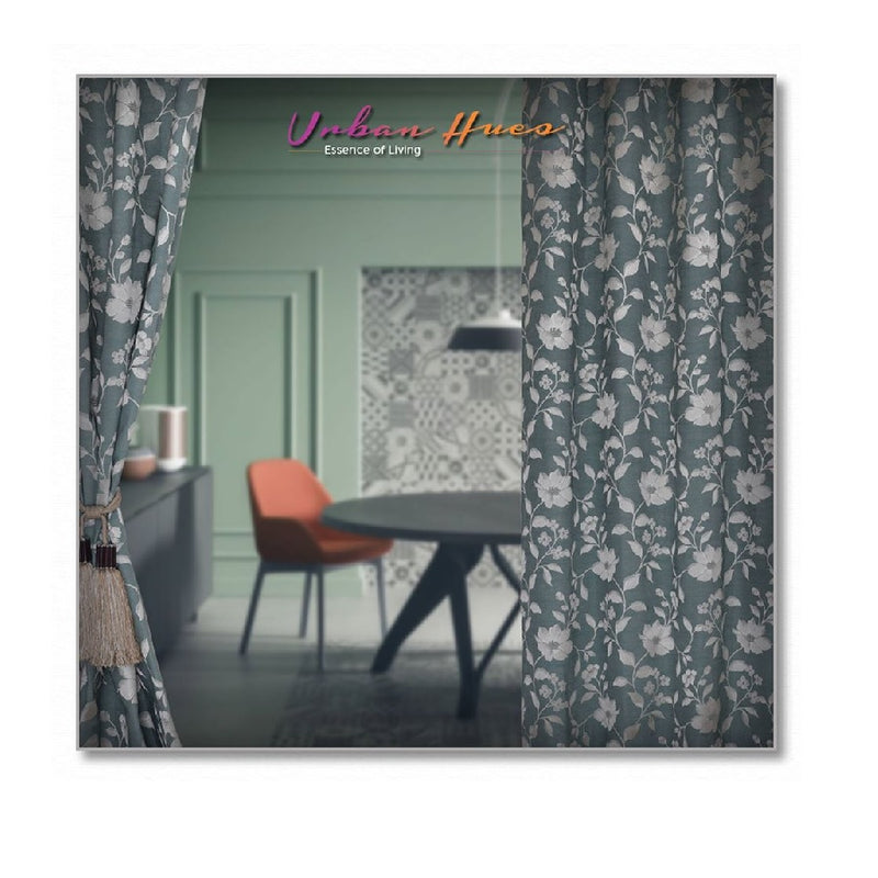 Floral Design Curtains By Urban Hues