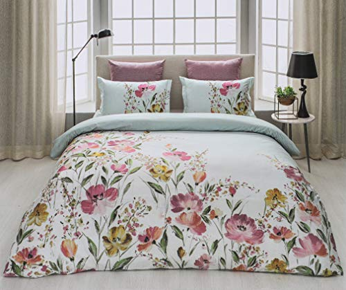 D'Decor Cotton Comfort 150 TC Double Bedsheet with Pillow Covers -Paradise Pink
