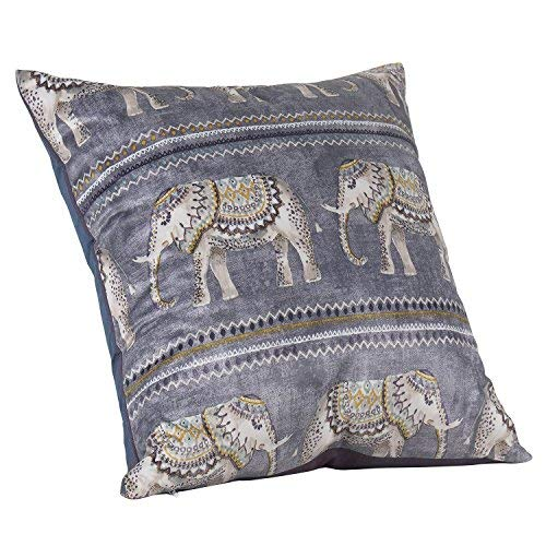 Urban Hues Polyester Multi Cushion Covers, 16 x 16-inch, Blue -Set of 1