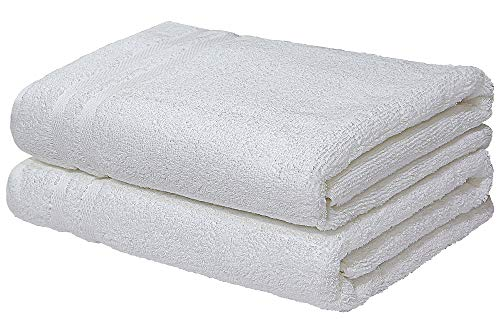 Urban Hues 100% Cotton Bath Towel Set of 2, 600 GSM (White)