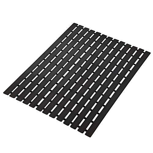 Urban Hues Plastic Skid Proof Anti Slip Shower Mat (24x18 inch) (Black)