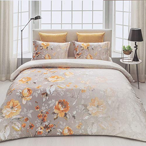 D'Decor Cotton Comfort 150 TC Double Bedsheet with Pillow Covers -Spectra