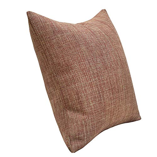 Urban Hues Plain Solid Jute Cushion Covers - Set of 1 (Peach)
