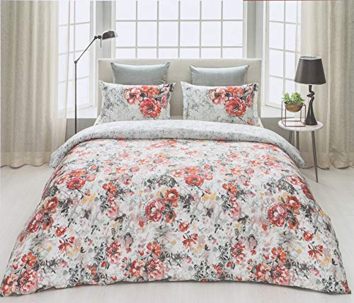 D'Decor Cotton Comfort 150 TC Double Bedsheet with Pillow Covers - Bittersweet