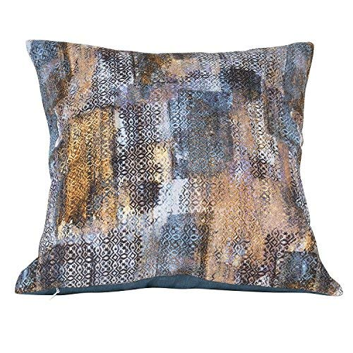 Urban Hues Polyester Cushion Covers, 16x 16-inch, Multicolour -Set of 1