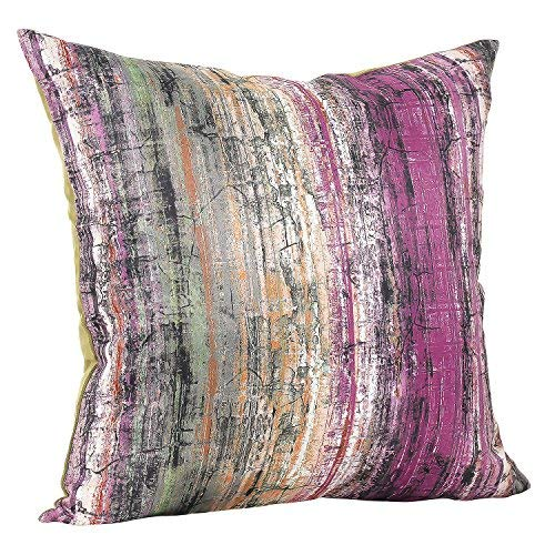Urban Hues Polyester 16x16-inch Cushion Covers-Purple (set of 1)