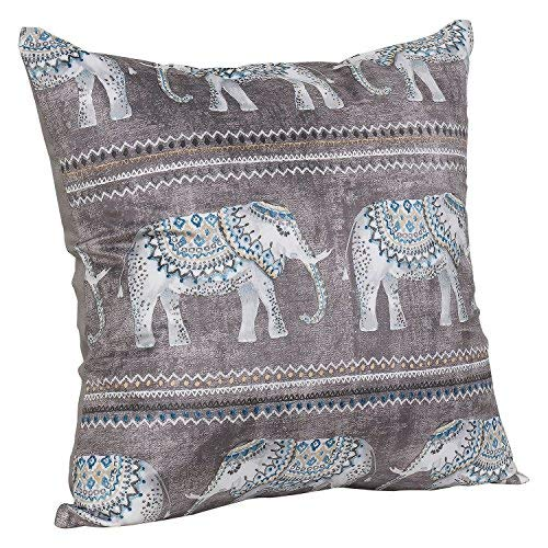 "Urban hues Designer Multi Cushion Covers 16"" x 16"" (Set of 1, Grey)"