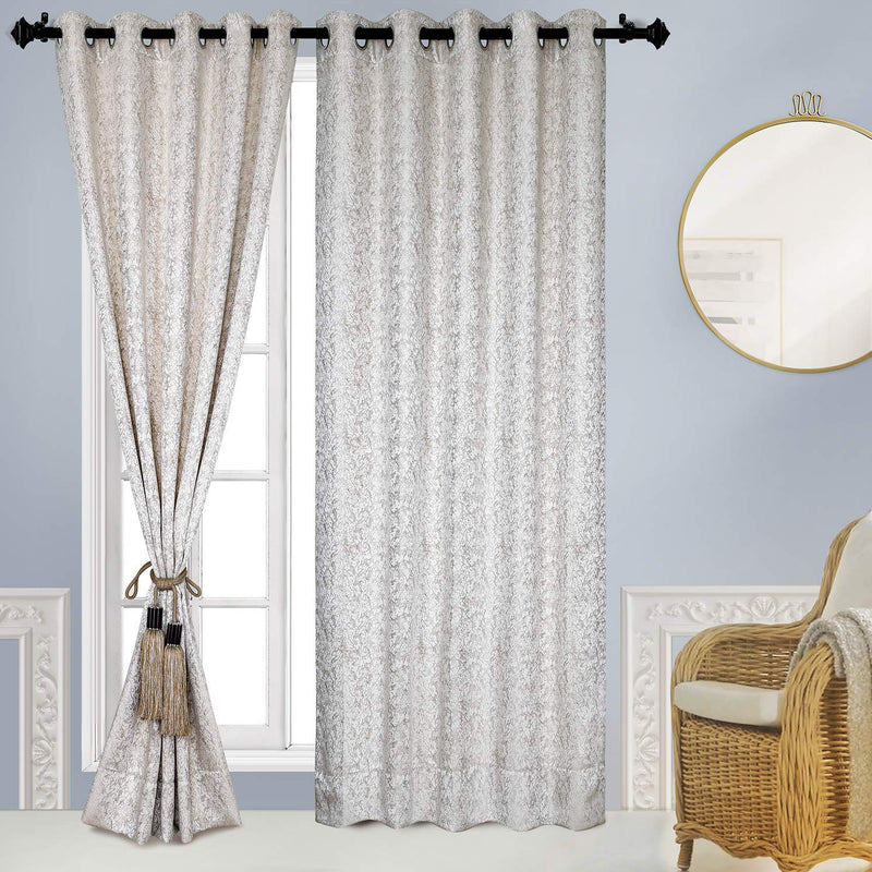 Urban Hues Eyelet Fine Quality Polyester Jacquard Fabric Window/Door Curtain