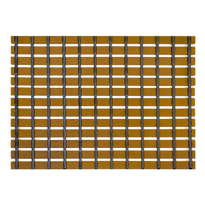 Urban Hues Plastic Skid Proof Anti Slip Shower Mat (24x18 inch) (Yellow)