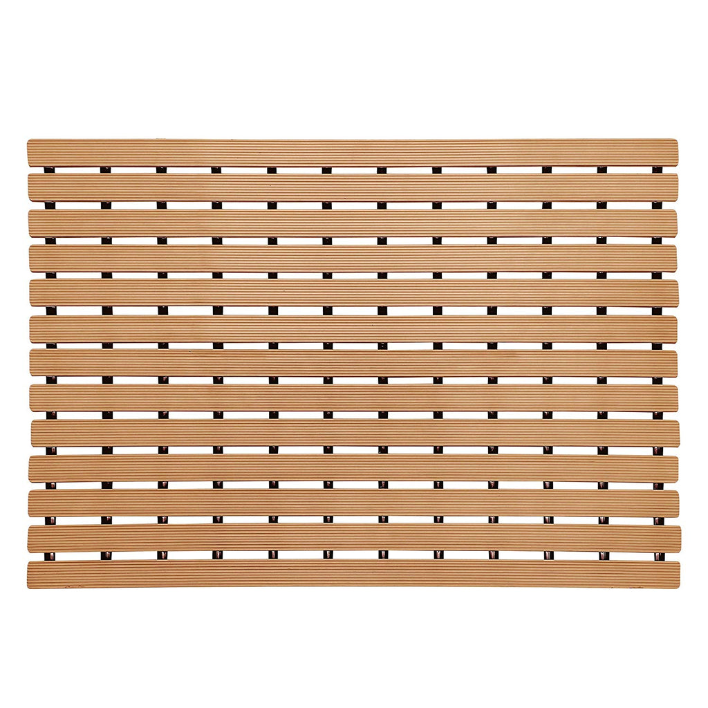 Urban Hues Plastic Skid Proof Anti Slip Shower Mat (24x18 inch) (Light Peach)
