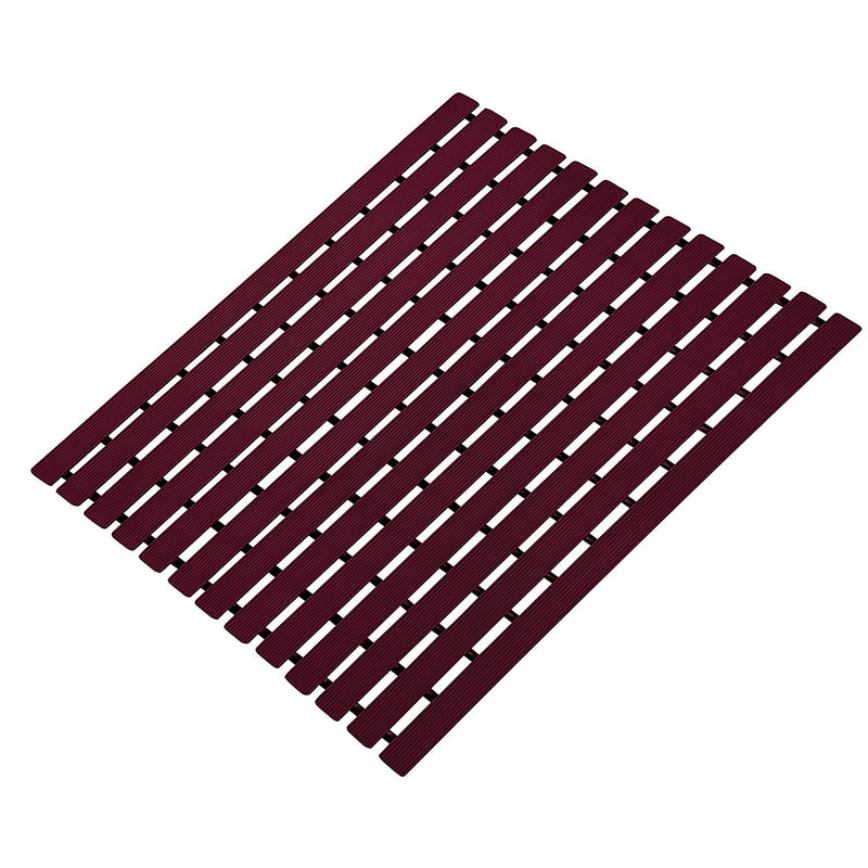 Urban Hues Plastic Skid Proof Anti Slip Shower Mat (24x18 inch) (Maroon)