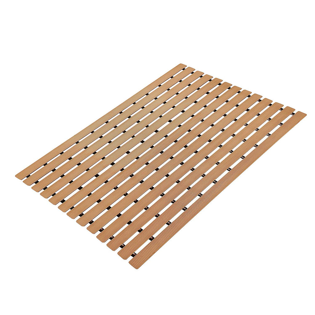 Urban Hues Plastic Skid Proof Anti Slip Shower Mat (24x18 inch) Set of 2 pcs -Light Peach
