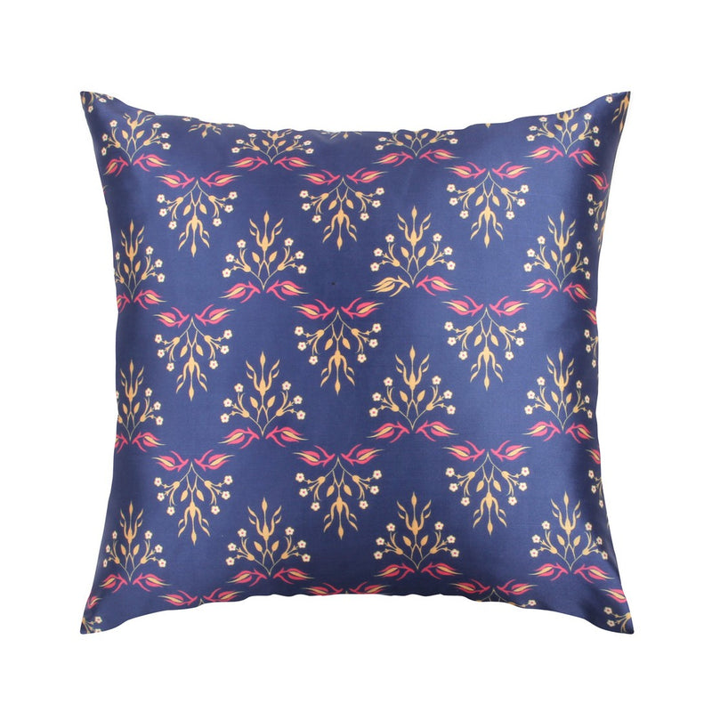 Urban Hues  Polyester Traditional Cushion cover -1 pc-Blue