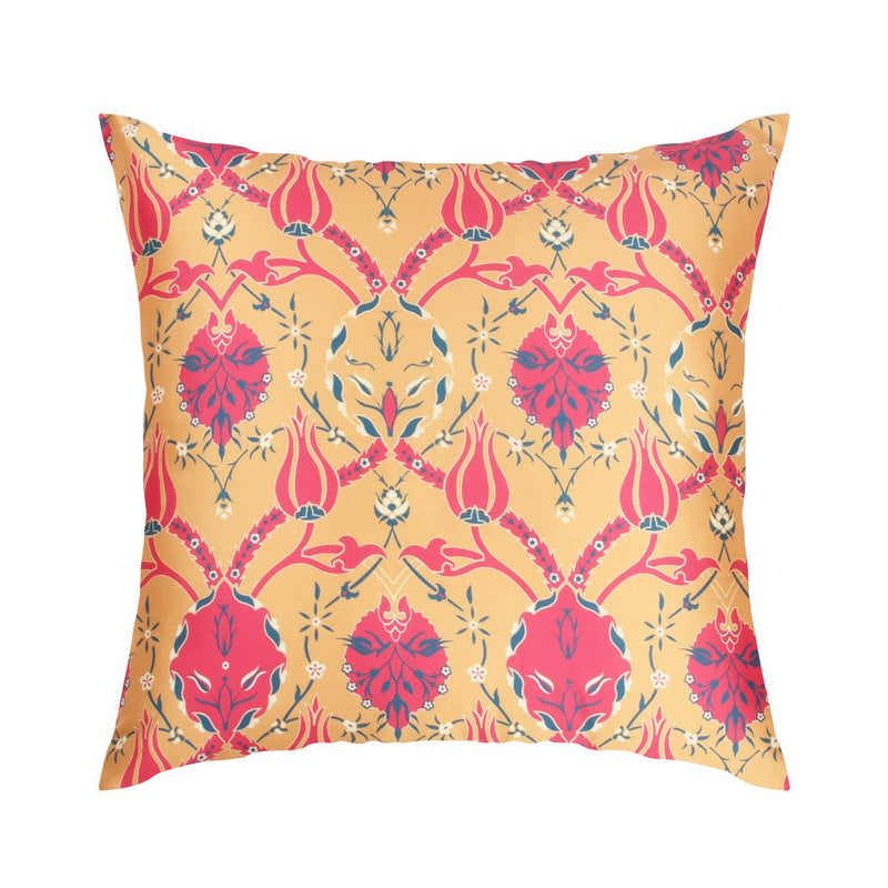 Urban Hues  Polyester Traditional Cushion cover - 1 pc-Yellow golden