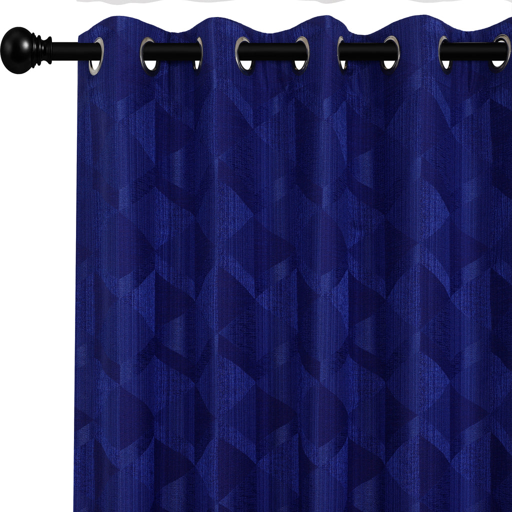 Urban Hues Eyelet Polyester Jacquard Fabric Window, Door Curtain-Purple-Canvas