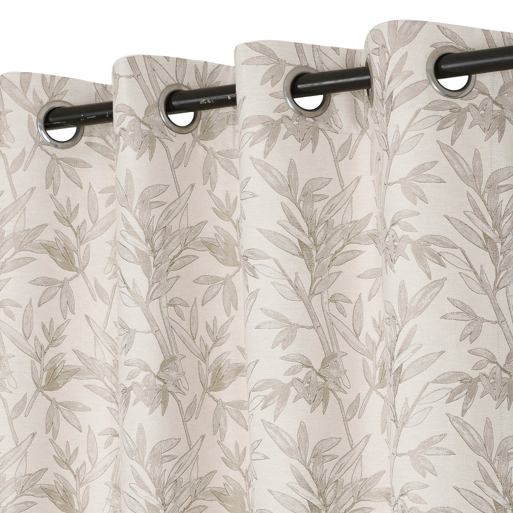 Urban Hues 1 Piece  Window, Door Curtains - (Beige&Light Brown-Palm Monstera)