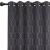 Urban Hues Eyelet Polyester Jacquard Fabric Window, Door Curtain-Grey-Trellis