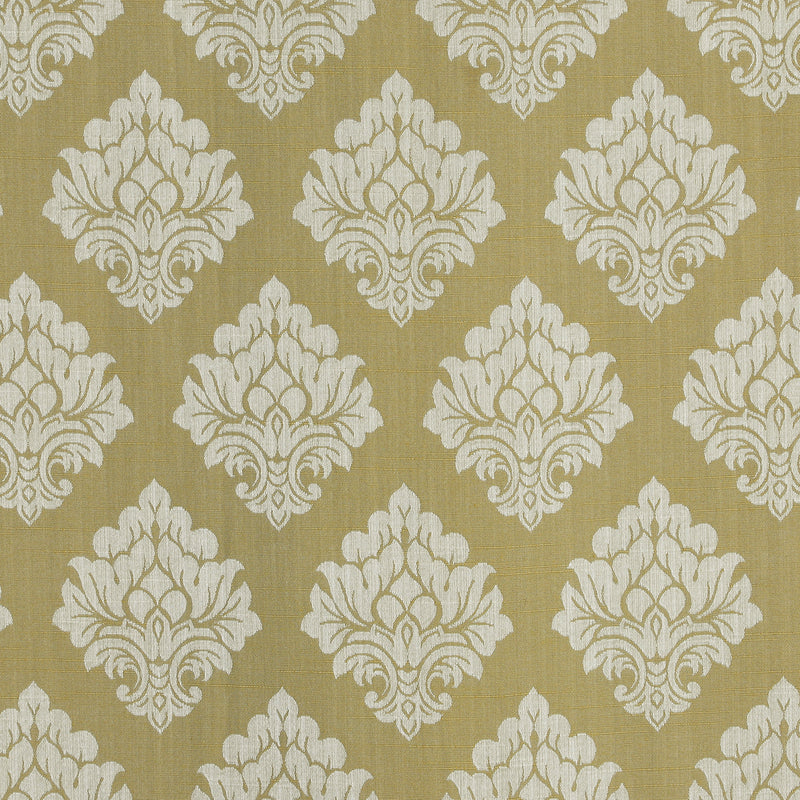 Urban Hues 1 Piece  Window,Door Curtain (Golden Yellow-Floral Damask)