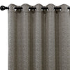 Urban Hues 1 Piece  Window, Door Curtains -(Brown-Leaf)