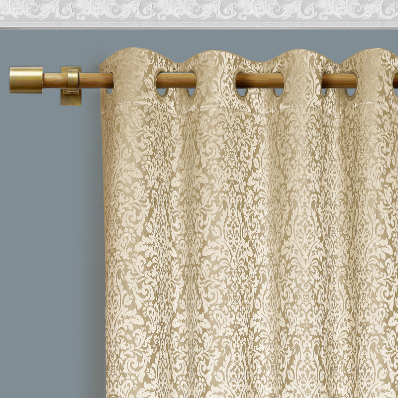 Urban Hues Eyelet Polyester Jacquard Fabric Window/Door Curtains