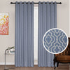 Urban Hues Polyester Jacquard Window, Door Curtains-Navy Blue
