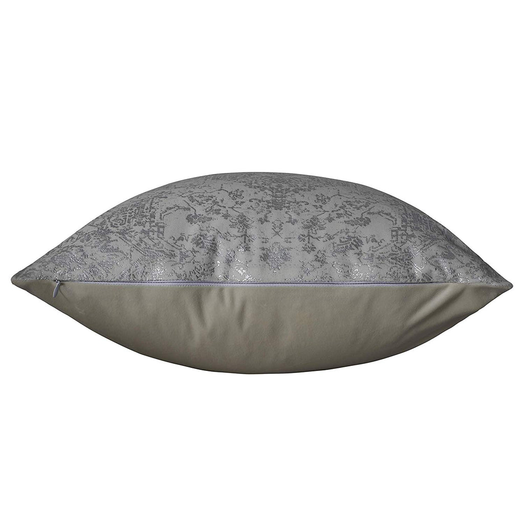 Urban Hues Designer Cushion Cover -1 pc (Cream & Silver)