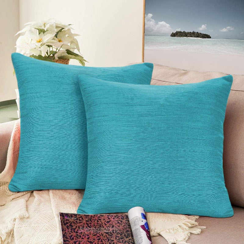 Urban hues Silk and Cotton Luxuries Solid Cushion Cover (Parrot Green)