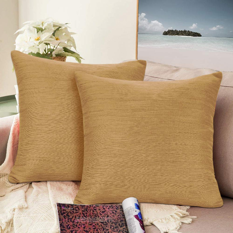Urban hues Silk and Cotton Luxuries Solid Cushion Cover (Yellow)