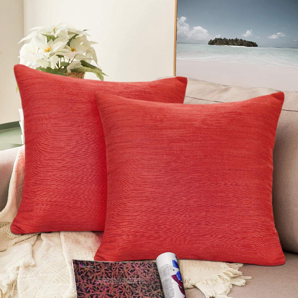 Urban hues Silk and Cotton Luxuries Solid Cushion Cover (Peach)