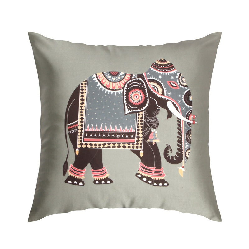Urban Hues  Polyester Traditional Cushion cover - 1 pc-Grey