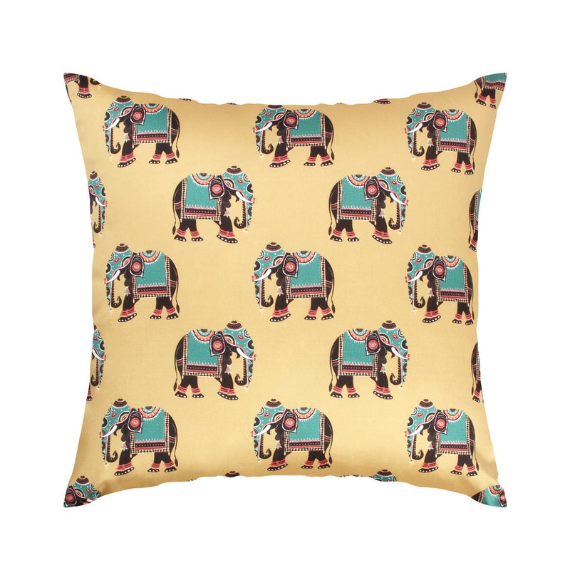 Urban Hues  Polyester Traditional Cushion cover - 1 pc-Golden Beige