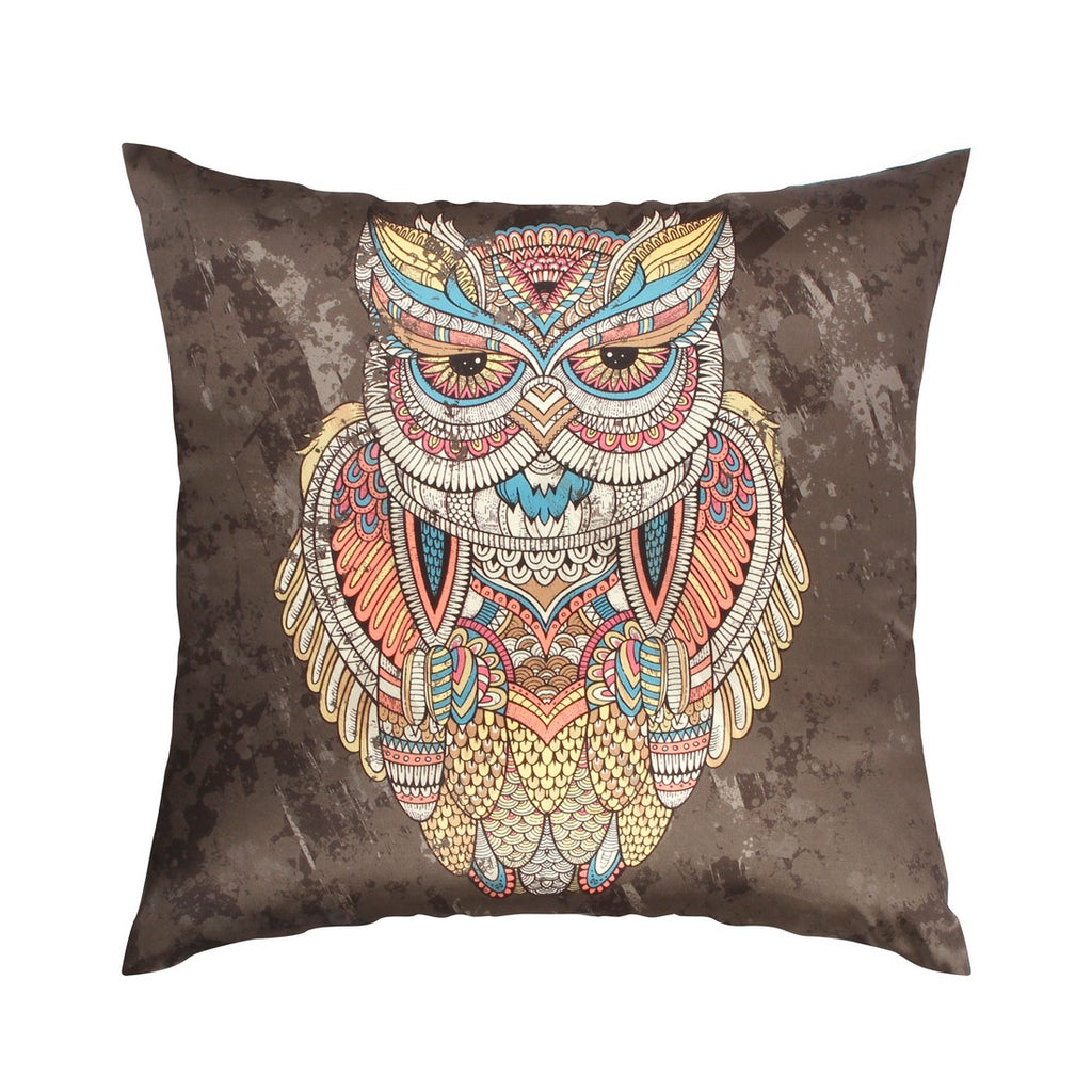 Urban Hues  Polyester Traditional Cushion cover - 1 pc-Brown