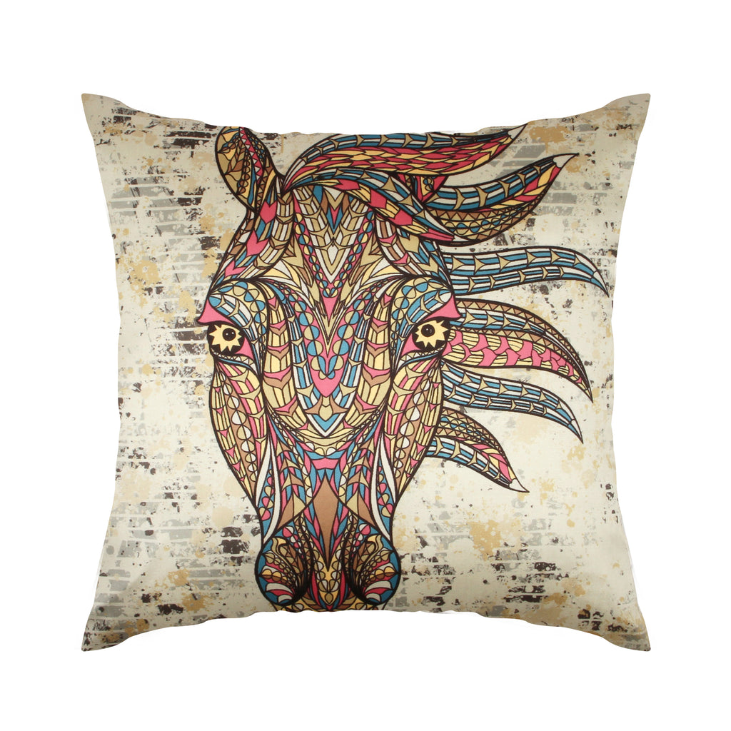 Urban Hues  Polyester Traditional Cushion cover - 1 pc-Multi
