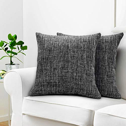 Urban Hues Plain Solid Jute Cushion Covers - Set of 1 (ck)