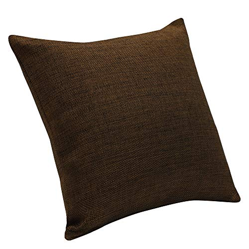 Urban Hues Plain Solid Jute Cushion Covers - Set of 1 (Dark Brown)