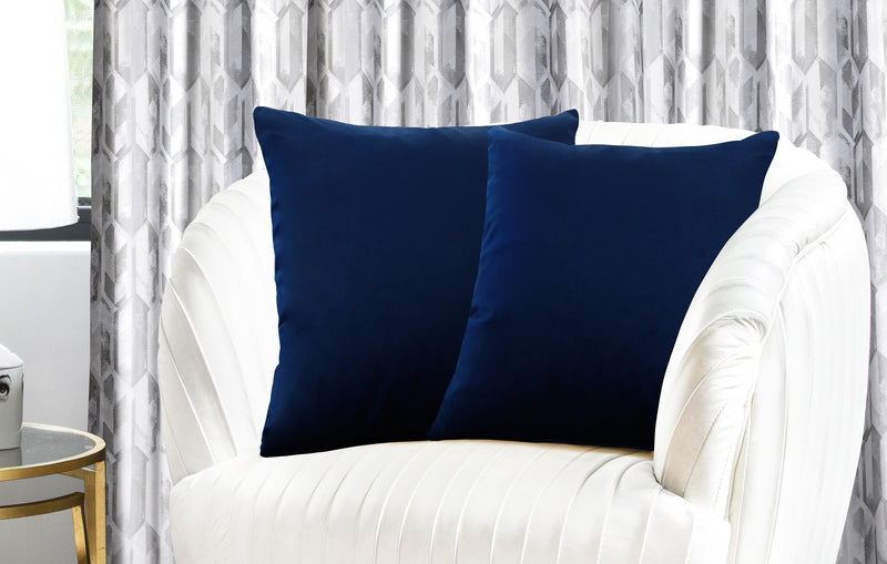 Urban Hues Modern Velvet Cushion Cover Super Soft Pack of 1-(Navy Blue)
