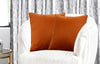 Urban Hues Modern Velvet Cushion Cover Super Soft Pack of 1-(Orange-Burnt)