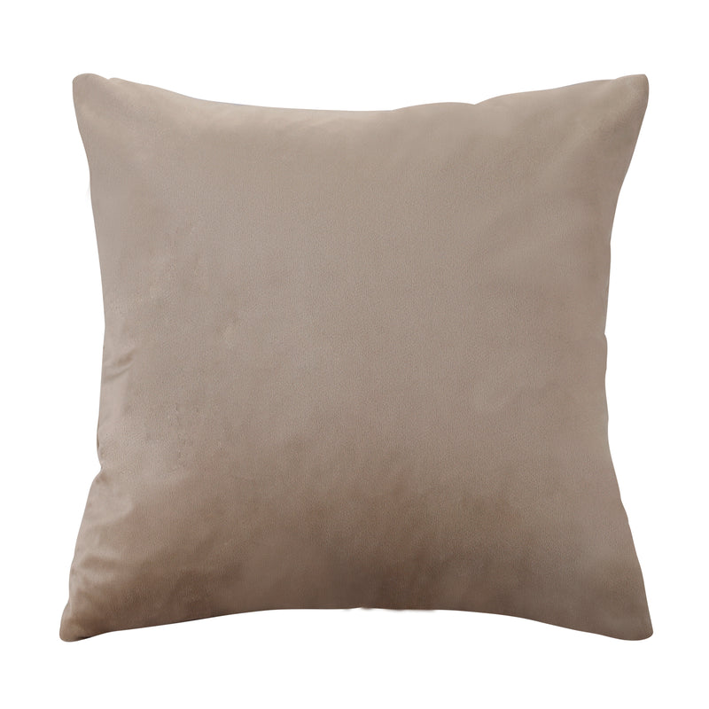 Urban hues Velvet 1 Piece Decorative Plain Cushion Cover Pack of 1 - (Cream-Pewtor)