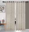 Urban Hues 1 Piece  Window,Door Curtain (Cream& Beige-Floral Damask)